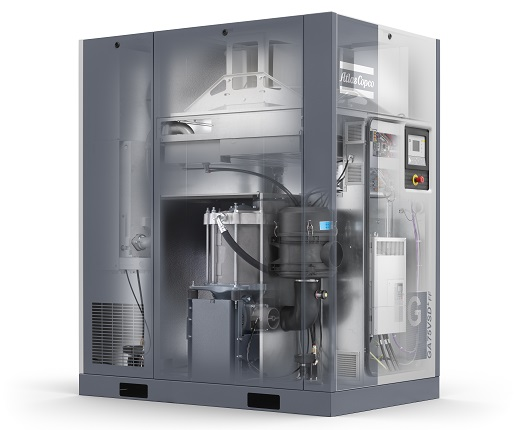 GA 75 VSD+ Oil-injected rotay screw compressor with a iPM motor and Variable Speed Drive