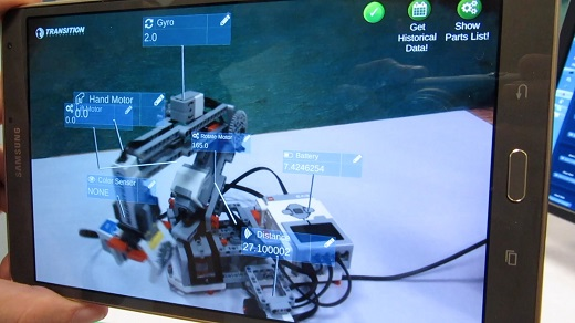 LiveWorx robot - AR view - live data_m