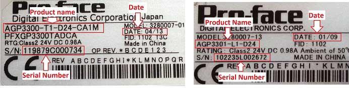 Proface label