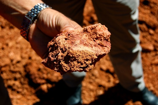 Bauxite is refined into alumina, which is used to produce alumin