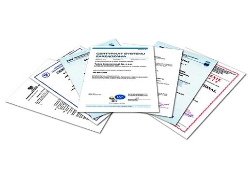 certyfikaty Tubes International_m